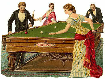 Pocket Billiards History - Pool table with pegs